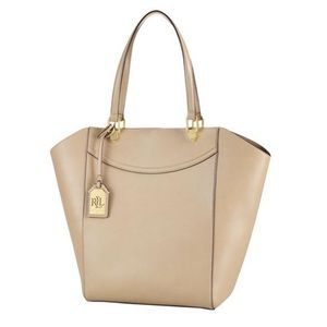 Ralph Lauren Lexington Beige Vegan Leather Tote